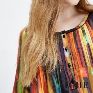 【ICHE 衣哲】100%好感純棉印花七分袖上衣