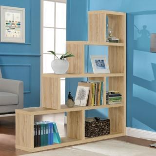 【FUN生活】DIY L型多層展示櫃/書櫃/收納櫃/隔間櫃(淺橡色/深橡色)