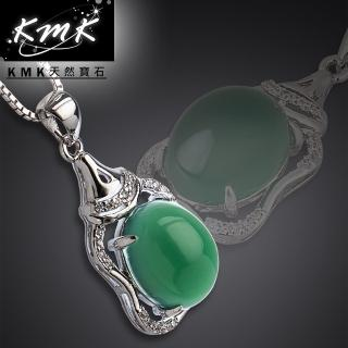 【KMK天然寶石】吉祥殿堂(南非辛巴威天然綠玉髓-項鍊)