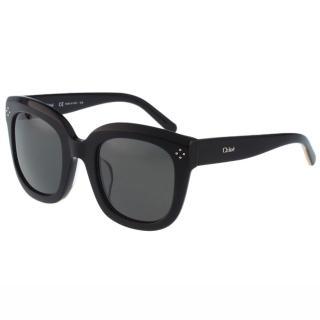 【CHLOE】-太陽眼鏡 復古感造型CE701SK-001(黑色)