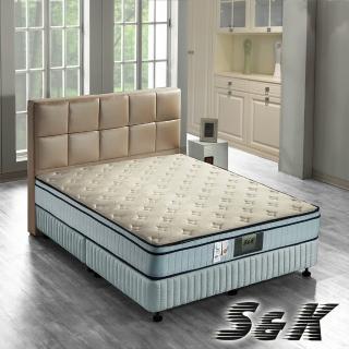 【S&K】(針織布+乳膠)硬式獨立筒床墊-單人3.5尺