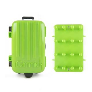 【iGimmick】3C線材收納盒- 綠色行李箱