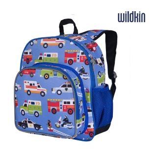 【美國Wildkin】幼兒後背包/寶寶書包(40111英雄聯盟 藍色車車)