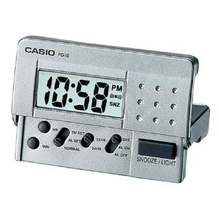 【CASIO】簡單攜帶款數位液晶鬧鐘(PQ-10D-8)