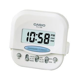 【CASIO】旅行專用款數位液晶鬧鐘(PQ-30B-7)