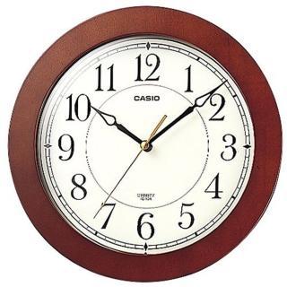 【CASIO】木紋質感圓形掛鐘(IQ-126-5)
