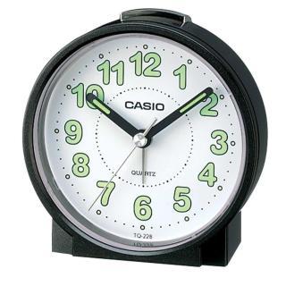 【CASIO】圓形桌上型鬧鐘(TQ-228-1)