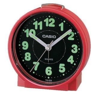 【CASIO】圓形桌上型鬧鐘(TQ-228-4)