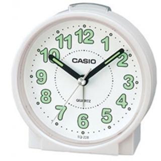 【CASIO】圓形桌上型鬧鐘(TQ-228-7)