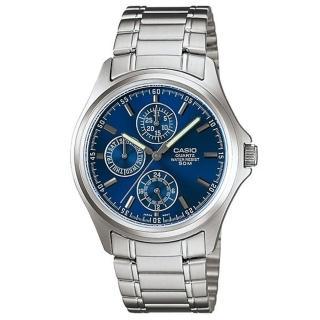 【CASIO】經典大方三眼六針腕錶(MTP-1246D-2)