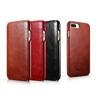 【ICARER】復古曲風 iPhone 7 plus磁扣側掀 手工真皮皮套(iPhone 7 Plus 5.5專用)