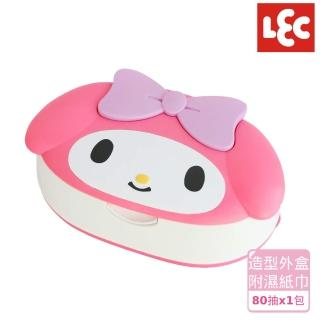 【日本LEC】日本LEC Melody純水99.9%盒裝濕紙巾(日本製超萌可愛造型純水99.9%造型外盒+80抽x1包)