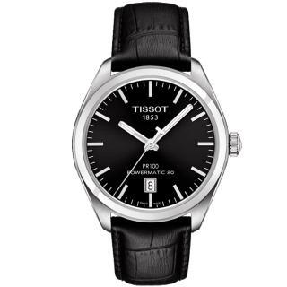 【TISSOT】天梭 PR100 Powermatic 80 機械腕錶-黑/39mm(T1014071605100)