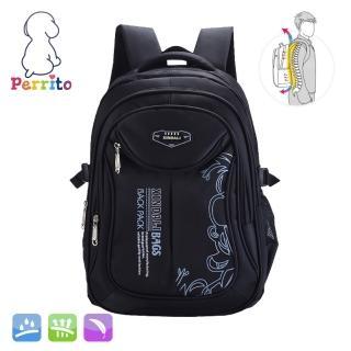 【Perrito】貝瑞童「核心護脊」兒童書包 - 黑色