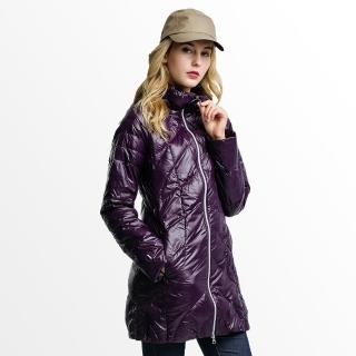 【JORDON 超值懶人包】撥水羽絨JIS90%連帽長大衣/370克(外套+側背包+刷毛帽)