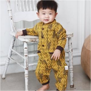 【baby童衣】長袖前開扣口袋造型連身衣 60272(共1色)