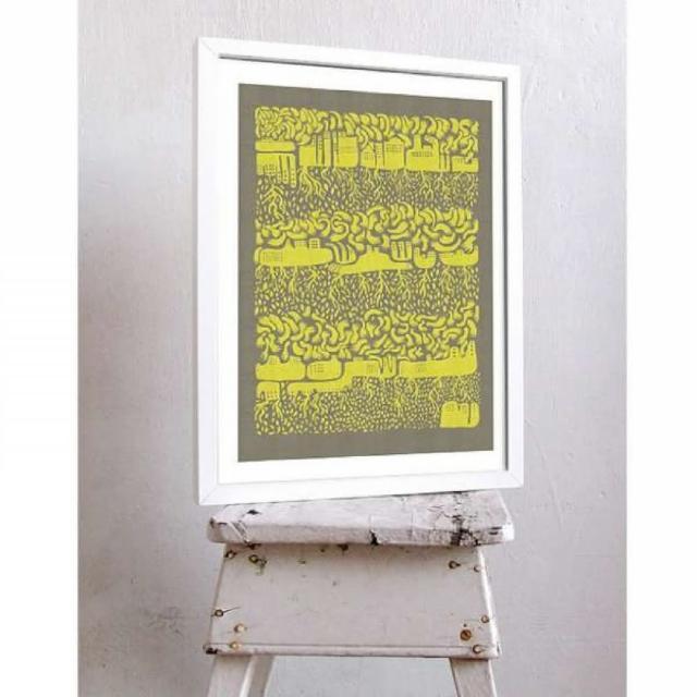 【摩達客】西班牙知名插畫家Judy Kaufmann藝術創作海報掛畫裝飾畫-世界(附本人簽名 含木框)