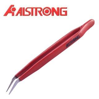 【ALSTRONG】不鏽鋼絕緣無磁彎頭鑷子TZ-213TW