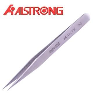 【ALSTRONG】不鏽鋼無磁尖鑷子 TZ-102TW