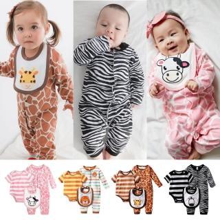 【baby童衣】條紋動物裝連身衣 3件套 61037(共3色)