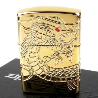 【ZIPPO】美系-Dragon-龍紋深刻鍍金打火機(ARMOR裝甲)