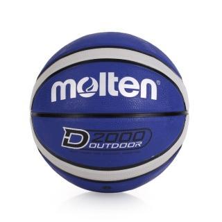 【MOLTEN】12片橡膠深溝籃球 -七號球(藍灰)