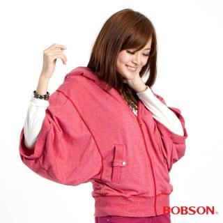 【BOBSON】女款連帽寬袖外套(桃32132-13)