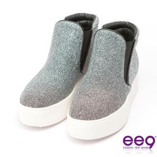 【ee9】青春熱力-吸睛Style素面百搭閃亮炫光布休閒鞋*銀色(休閒鞋)