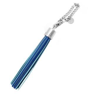 【agnes b.】流蘇造型吊飾(藍)