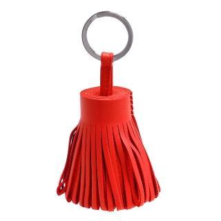 【HERMES】流蘇造形山羊皮鑰匙圈手袋吊飾(紅H327108AT5-RED)