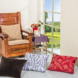 【CLEO】木椅枕/背枕/靠腰枕(3入)