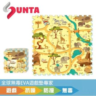 【SUNTA拼接樂扣墊】動物樂園(EVA樂扣遊戲墊-32*32*1cm 9片裝)