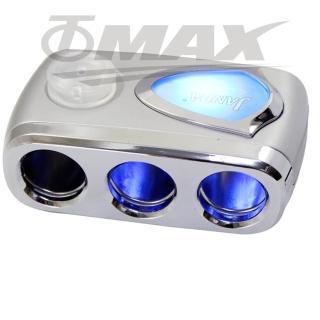 360度藍光三孔插座+USB孔插座