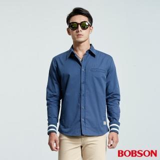 【BOBSON】男款襯衫式薄外套(藍35004-52)
