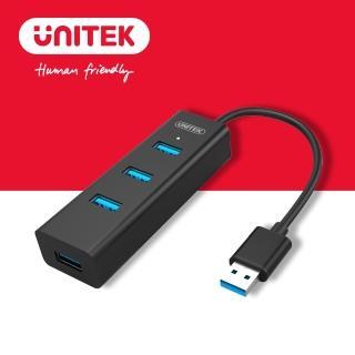【UNITEK 優越者】4PORT高速USB3.0HUB集線器(Y-3089BK-30)