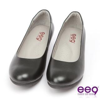 【ee9】ee9 芯滿益足-通勤私藏全真軟牛皮經典素面百搭跟鞋*黑色(跟鞋)
