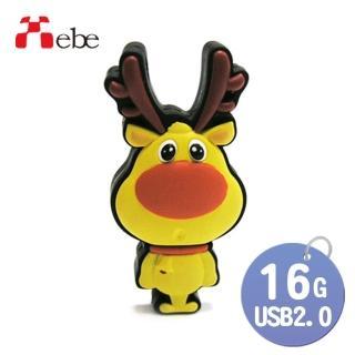 【Xebe集比】聖誕麋鹿造型造型隨身碟8GB