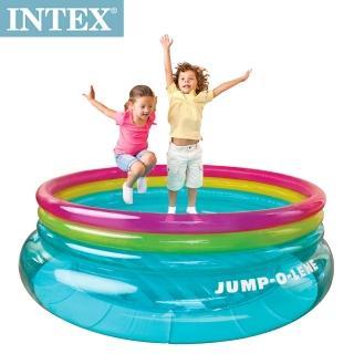 【INTEX】兒童圓形三色透明跳跳床/球池(寬203cm)