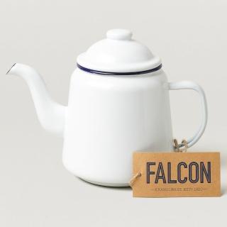 【英國 Falcon】獵鷹琺瑯 琺瑯茶壺 藍白