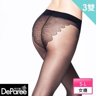 【蒂巴蕾Deparee】纖v透全透明彈性絲襪(3入)
