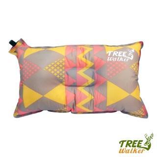 【Tree Walker】花漾舒適自動充氣枕(菱紋粉)