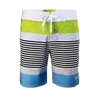 【美國TYR】男款彈性海灘褲Zag Stripe Boardshort VIridian Green(台灣總代理)