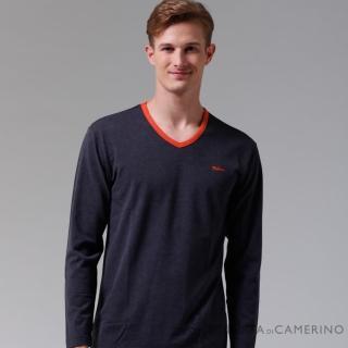 【ROBERTA諾貝達】台灣製 柔軟保暖 時尚百搭長袖POLO棉衫(深灰)