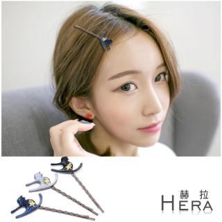 【Hera】赫拉 金蔥貓咪鑽星星髮夾/邊夾/瀏海夾/一字夾(三色任選)