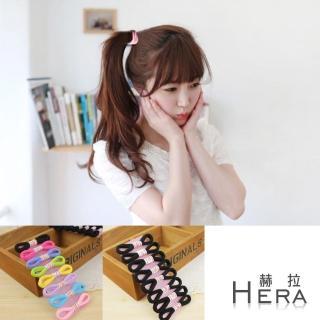 【Hera】赫拉 純色高彈力毛巾髮圈/髮束(黑色+彩色-16入)