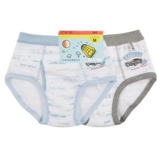 【一王美】一王美台灣製OP汽車英文男童褲-6件組(隨機取色)