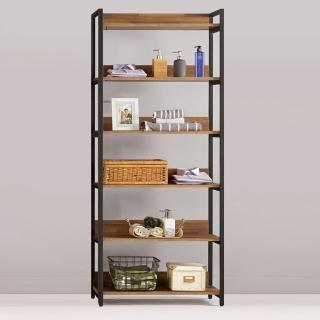 【Bernice】諾德2.7尺開放式多層收納衣櫃