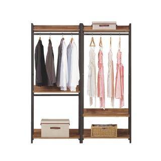 【Bernice】諾德5.3尺開放式組合衣櫃(雙吊+單桿)
