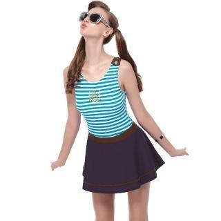 【SAIN SOU】泡湯SPA大女連身裙泳裝(附泳帽A98631)
