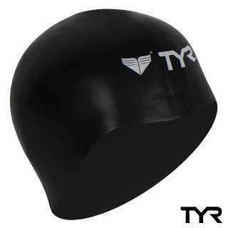 【美國TYR】成人用3D矽膠泳帽 Solid Silicone Black(台灣總代理)